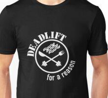 Deadlift for a Reason Bacon White Unisex T-Shirt