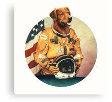 Astronimals: L. Brador (Circular) Canvas Print