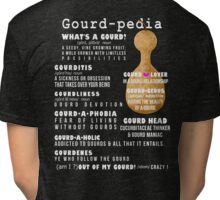 Gourd-Pedia (white letters) by Chris Peters Tri-blend T-Shirt