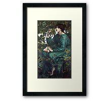 Dante Gabriel Rossetti - The Day Dream , Portrait Of A Woman Framed Print
