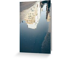 Skyscraper Puddle Greeting Card