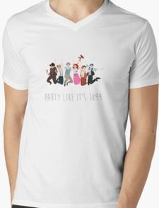 Party Like It's 1899 - for white things! Mens V-Neck T-Shirt