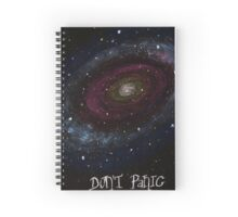 The Hitchhiker's Guide to the Galaxy Tshirt , Don't Panic Spiral Notebook