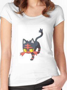 Litten - NEW Pokemon game Starter Women's Fitted Scoop T-Shirt