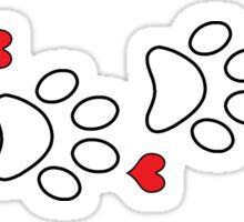 DOG PAWS LOVE DOG PAW I LOVE MY DOG PET PETS PUPPY STICKER STICKERS DECAL DECALS Sticker