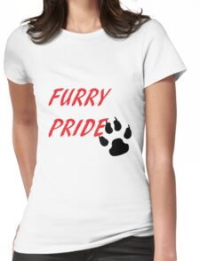FURRY PRIDE Womens Fitted T-Shirt