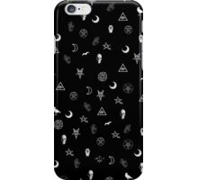 Goth Symbols Pattern iPhone Case/Skin