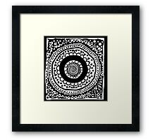 Initial O Black and White Framed Print
