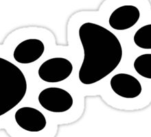 DOG PAWS LOVE DOG PAW I LOVE MY DOG PET PETS PUPPY STICKER STICKERS DECAL DECALS Sticker
