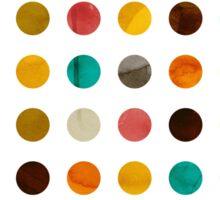 Autumnal Polka-dots colors Sticker