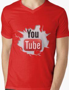 youtube Mens V-Neck T-Shirt