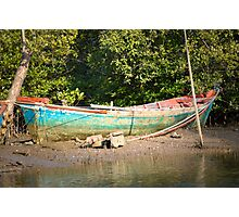 Turquoise boat Photographic Print