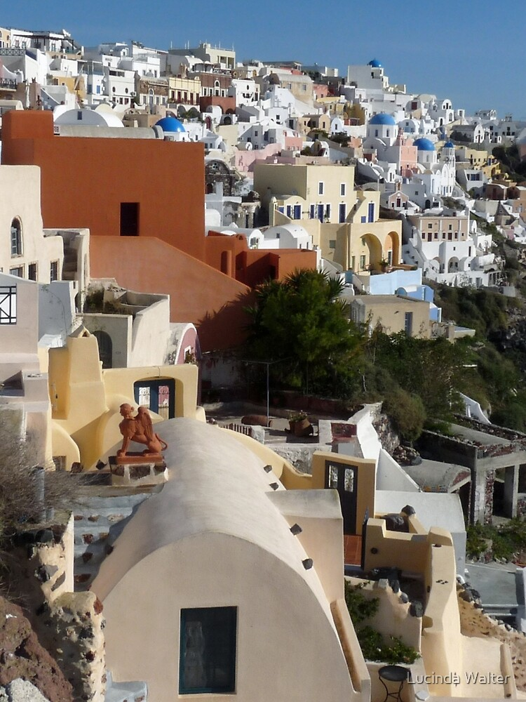 Beautiful Santorini by Lucinda Walter