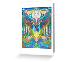 Embraced By The Muse Greeting Card