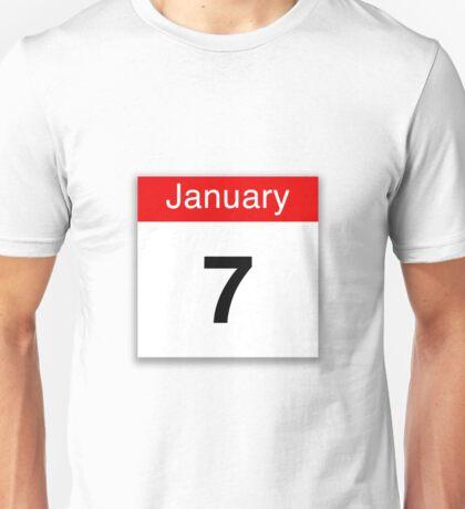 January 7th Unisex T-Shirt