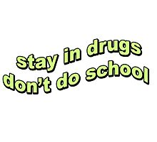 Stay in drugs, don't do school Photographic Print
