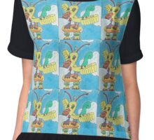 Flying Duck Airline Chiffon Top