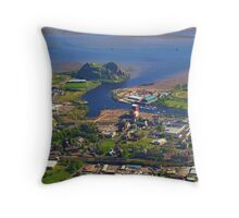 Dumbarton Castle & River Clyde. Scotland Throw Pillow