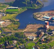 Dumbarton Castle & River Clyde. Scotland Sticker