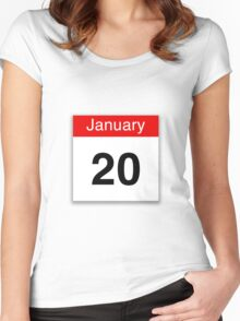 January 20th Women's Fitted Scoop T-Shirt