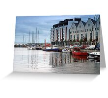 Boats in Galway Bay, Ireland Greeting Card