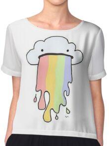 Rainbow Puke Chiffon Top
