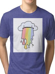 Rainbow Puke Tri-blend T-Shirt