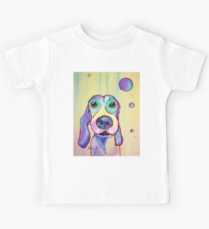 Colorful Dog Art by Valentina Miletic Kids Tee
