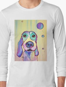 Colorful Dog Art by Valentina Miletic Long Sleeve T-Shirt