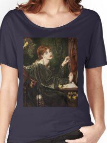Dante Gabriel Rossetti - Veronica Veronese , Portrait Of A Woman Women's Relaxed Fit T-Shirt
