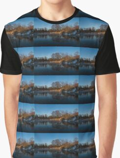 Blue Serenity - Early Morning at a Little Pond off Lake Ontario in Toronto Graphic T-Shirt