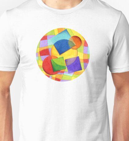 Candy Rainbow Geometric Plaid Unisex T-Shirt