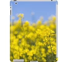 Rapeseed flowers swaying in the wind iPad Case/Skin