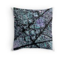Negative Space In Negative Throw Pillow