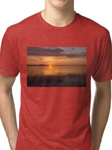 Toronto's Skyline at Sunrise Tri-blend T-Shirt