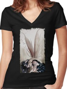 Sad Fairy Women's Fitted V-Neck T-Shirt