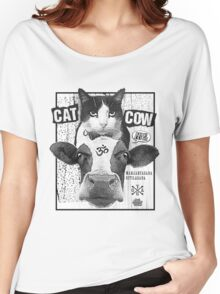 Cat Cow Energy Show Flyer Women's Relaxed Fit T-Shirt