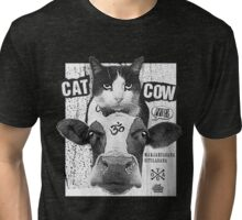 Yoga: Cat Cow Straight Edge Matinee  Tri-blend T-Shirt