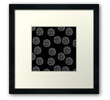 Dot Circles 4 Mono Framed Print