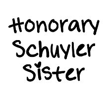 Honorary Schuyler Sister Photographic Print