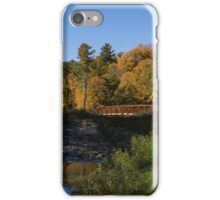 Rusty Little Bridge Complementing the Fall Colors iPhone Case/Skin