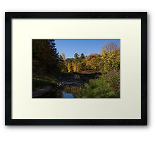 Rusty Little Bridge Complementing the Fall Colors Framed Print