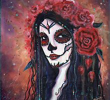 Dreaming of you day of the dead art by Renee Lavoie by Renee Lavoie