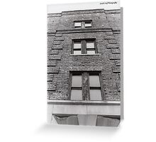 Old Four Story Building Greeting Card