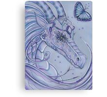 Frosty Lavender dragon by Renee Lavoie Canvas Print