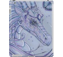Frosty Lavender dragon by Renee Lavoie iPad Case/Skin