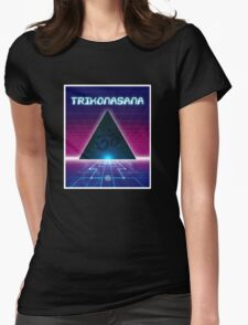 Space Age Triangle Womens Fitted T-Shirt