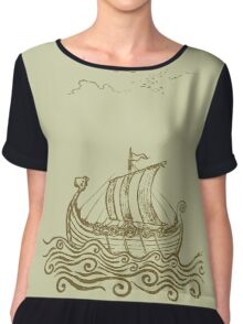 Viking ship Chiffon Top
