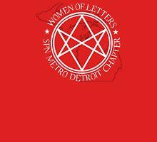 Women of Letters Detroit Chapter Women's Fitted V-Neck T-Shirt