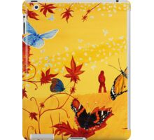 Colorful butterflies, nature, summer, spring, atum, happiness and love iPad Case/Skin